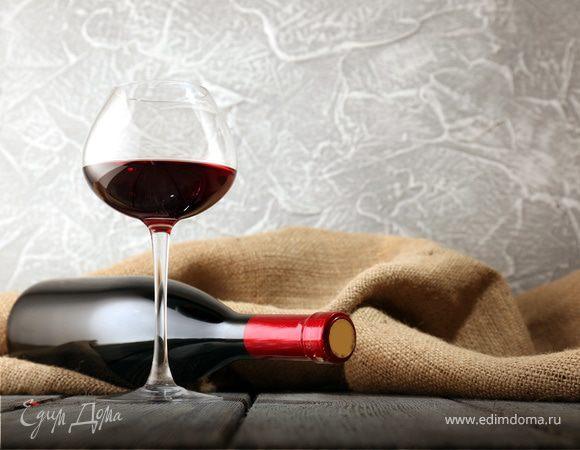Вино красное полусладкое