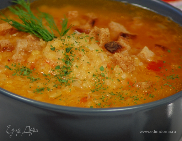 Суп с жёлтой чечевицей