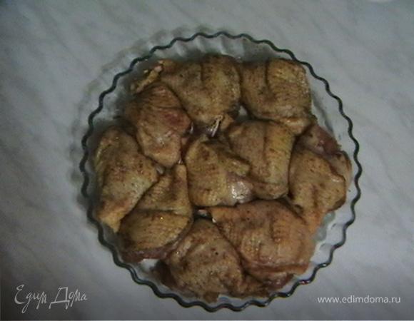 Куриные ножки с ананасом