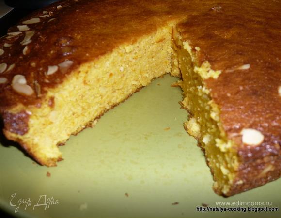 Мандариновый пирог со вкусом миндаля