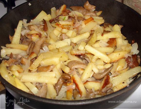 Как вкусно приготовить вешенки с картошкой