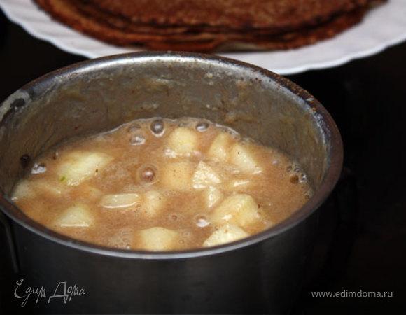 Рисовые блинчики с грушевым соусом