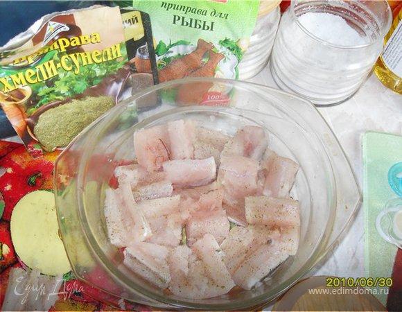 Рыбка, запеченная под шубкой из свеклы
