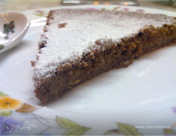 Шоколадно-апельсиновый пирог