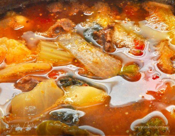 Домашняя похлебка с мясом (Pottage, Eintopf, Stew)