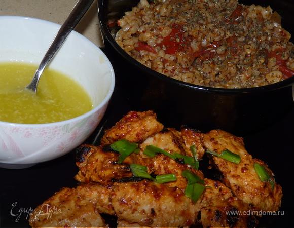 Курица по-ливански с чесночным соусом / Shish taouk