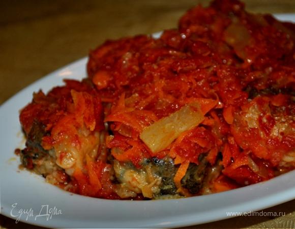 Маринованная рыба с морковью и ананасами