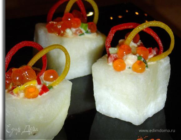 """Порционный салат """"Льдинки"""""""