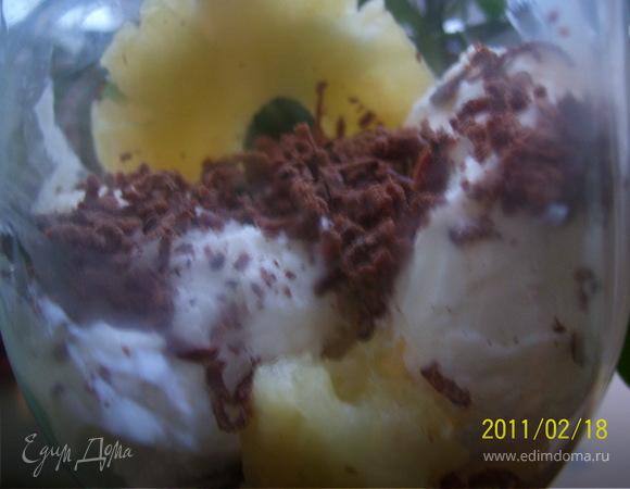 """Десерт """"Любимый"""" с ананасом"""