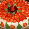 Клубнично-ежевичный тортик