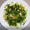 Салат из руколы,сельдерея,винограда и сыра бри.