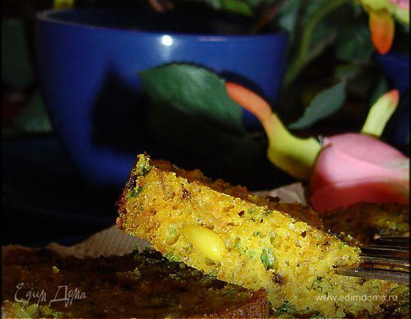 Кекс с грибами, сыром и кедровыми орешками