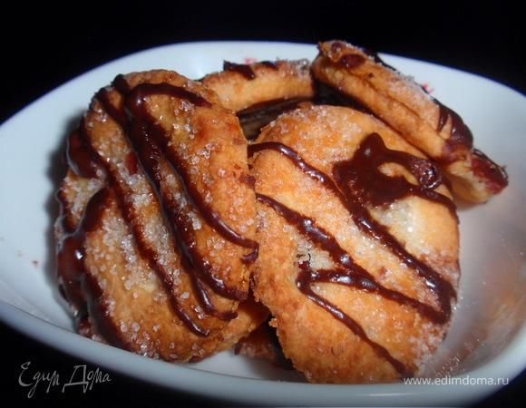 Творожные печенюжки с миндалем и клюквой