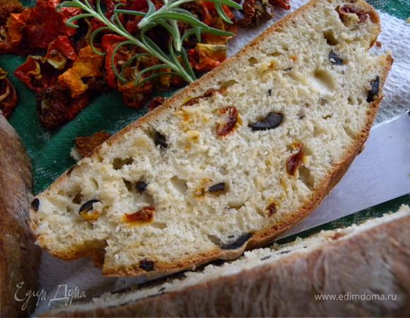+ Хлеб с помидорами, оливками и розмарином