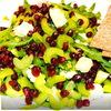 Зелёный салат с гранатом и сыром бри))
