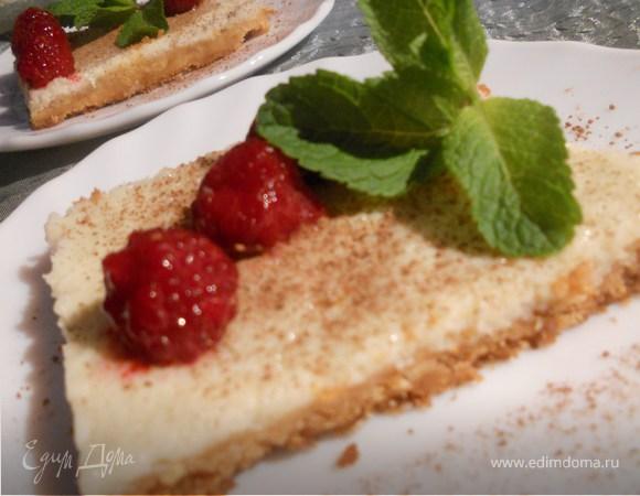 Пирог со сгущенным молоком и лаймово-мятными нотами
