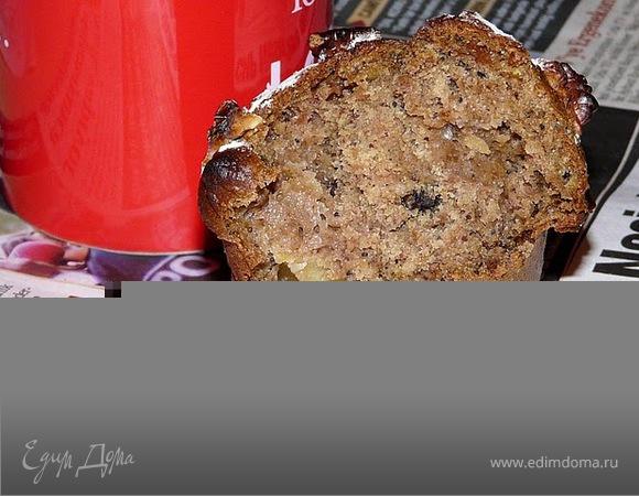 Цельнозерновые маффины с яблоком и орехами