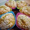 Кексы мандариново-ореховые