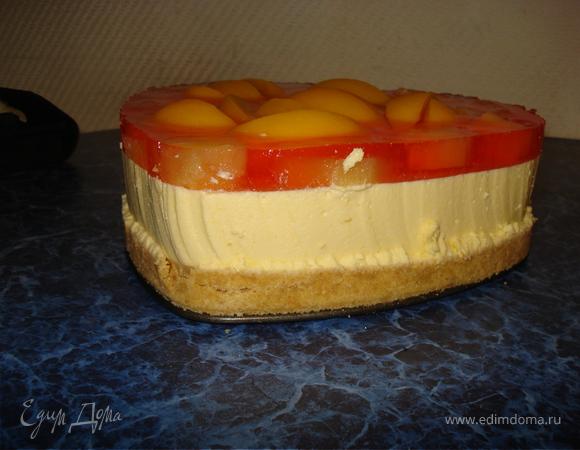 Бисквитно-суфлейно-желейный тортик