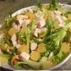 Салат с индейкой, кешью и апельсиновым желе