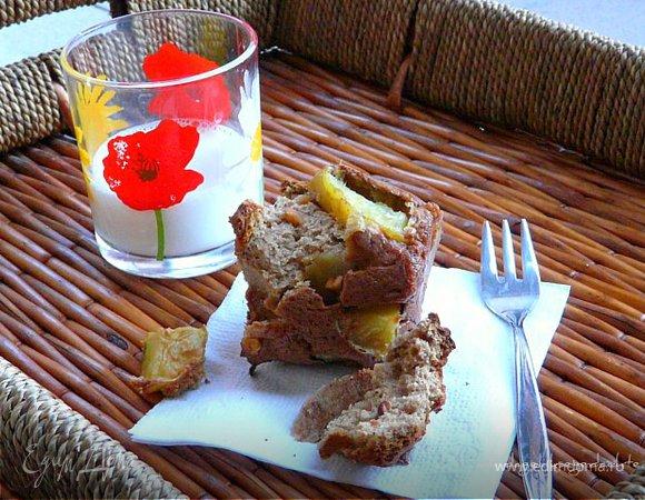 Арахисовые маффины с яблоком!
