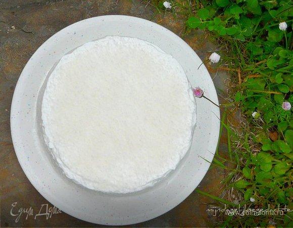Шифоновый торт с лаймовым кердом и кокосом