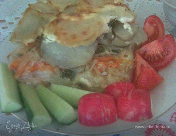 Рыба, запеченная с картошкой