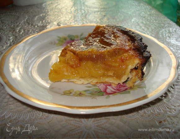 Медовый пирог с инжиром