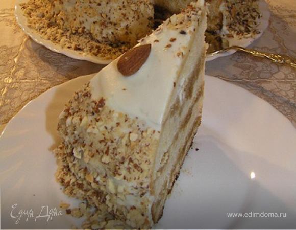 "Торт ""Крем-брюле"" с миндалём"