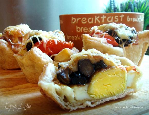 Тарталетки с яйцом к завтраку