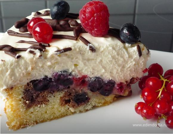 """Торт """"Дунайские волны"""" с ягодами"""