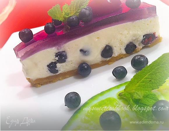 """Cheesecake """"Blueberry Nights"""" (Чизкейк """"Черничные ночи"""")"""