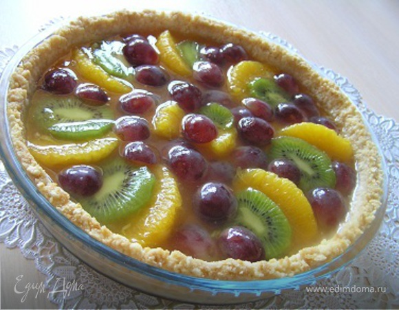 Пирог со свежими фруктами