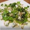Зеленый салат с шампиньонами и сыром с голубой плесенью (обед во французском стиле № 2)