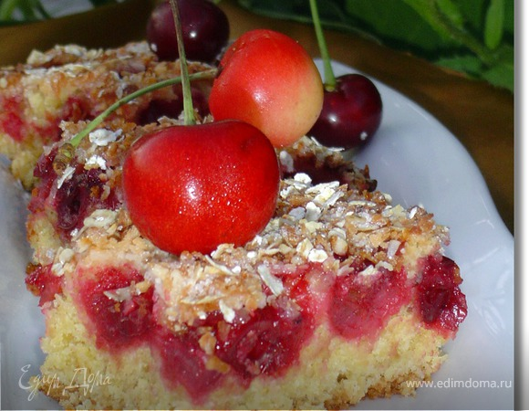 """Вишневый пирог с овсяными хлопьями """"Nordic"""""""
