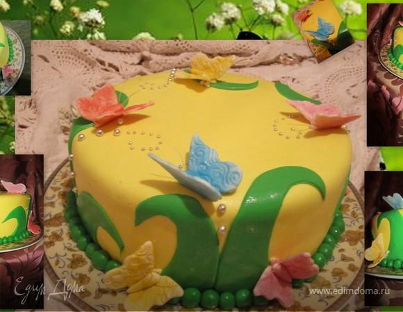 """Торт """"Солнечные бабочки"""""""