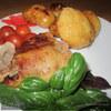 Утка горчичная с яблоками и запеченной молодой картошкой