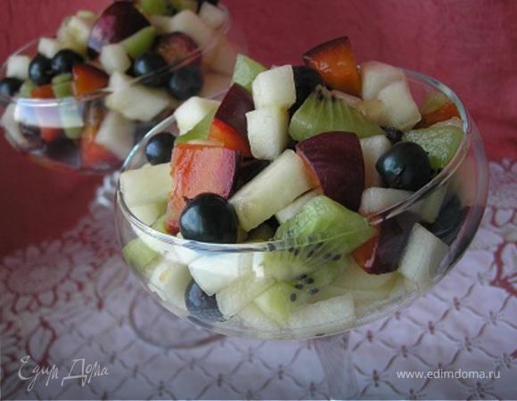 Фруктовый салат с дыней для ТаИс :)
