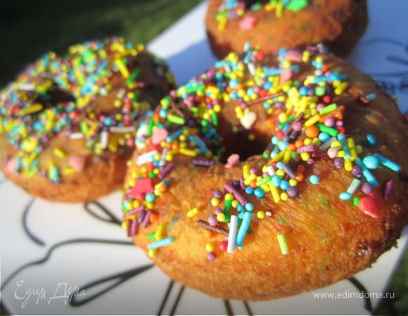 Пончики творожные, пышные:)