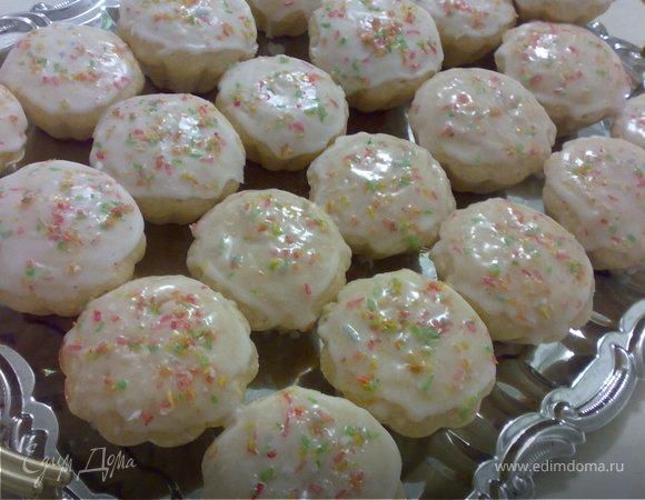 Лимонно-кокосовые кексы