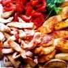 Пряная индейка с овощами