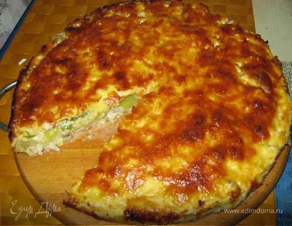 Пирог с цукини, курочкой и сыром!