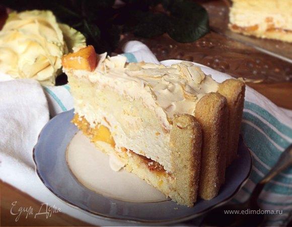 Торт с творожно-фруктовой начинкой