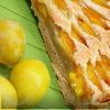 Сливовый пирог с марципаном