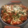 Каннелони фаршированные грибами под томатным соусом