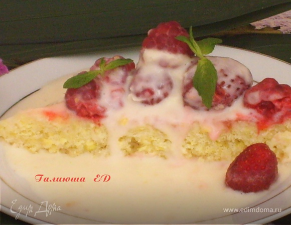 """Тортик """"Лимонный"""" с ягодами"""