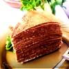 Торт шоколадно-креповый с заварным кремом