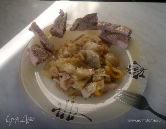 Баварский обед ( свинина и капуста )