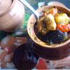 Свинина с овощами, запечённая в горшочке (почти чанахи)