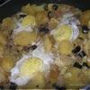 Картофель с шампиньонами и яичницей-глазуньей